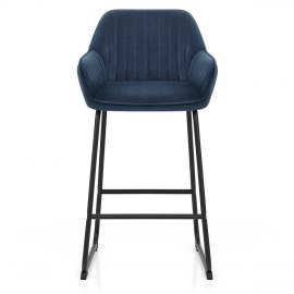 Kanto Bar Stool Blue Velvet