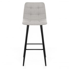 Croft High Bar Stool Grey Fabric