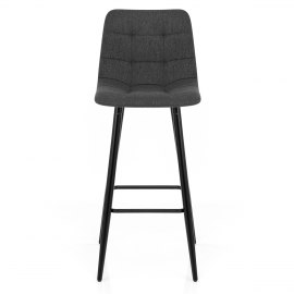 Croft High Bar Stool Charcoal Fabric