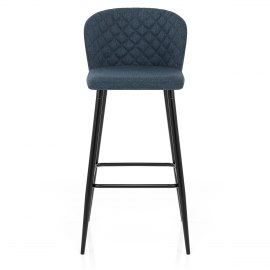 Strand High Bar Stool Blue Fabric