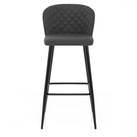 Strand High Bar Stool Charcoal Fabric