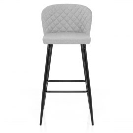 Strand High Bar Stool Grey Fabric