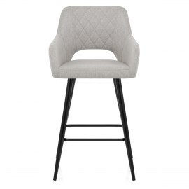 Lopez Bar Stool Grey Fabric
