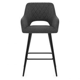 Lopez Bar Stool Charcoal Fabric