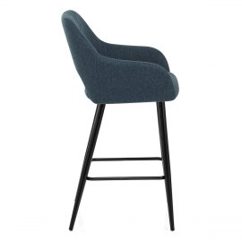 Lopez Bar Stool Blue Fabric