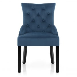 Verdi Dining Chair Blue Velvet