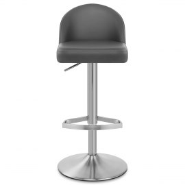 Mimi Real Leather Bar Stool Grey