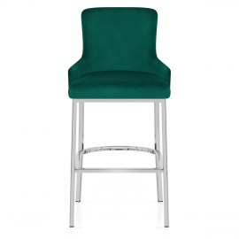 Blush Bar Stool Green Velvet
