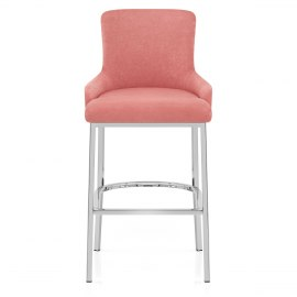 Blush Bar Stool Pink Velvet