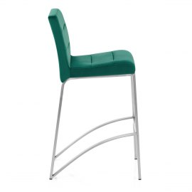 Stella Brushed Stool Green Velvet