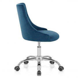 Sofia Office Chair Blue Velvet
