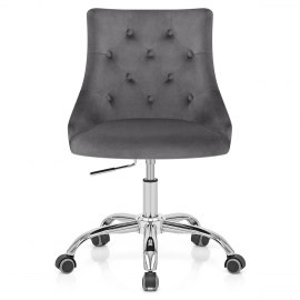 Sofia Office Chair Charcoal Velvet