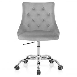 Sofia Office Chair Grey Velvet