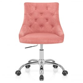 Sofia Office Chair Pink Velvet