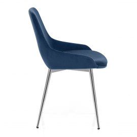 Aston Dining Chair Blue Velvet