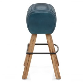 Pommel Stool Antique Blue Leather