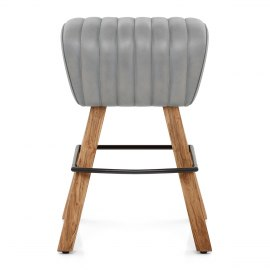 Pommel Stool Antique Grey Leather