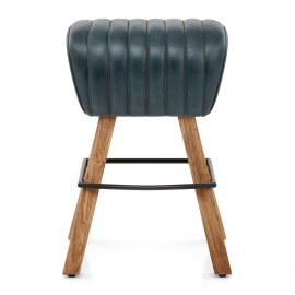 Pommel Stool Antique Slate Leather