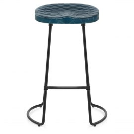 Foundry Industrial Stool Blue Leather