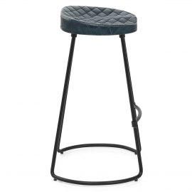 Foundry Industrial Stool Slate Leather