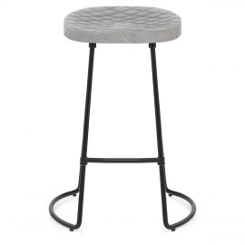 Foundry Industrial Stool Grey Leather