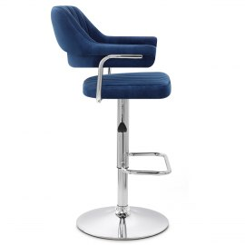 Skyline Bar Chair Blue Velvet