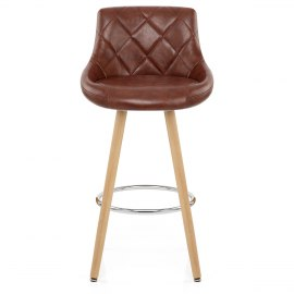 Fuse Wooden Stool Antique Brown