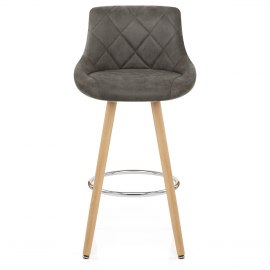 Fuse Wooden Stool Charcoal