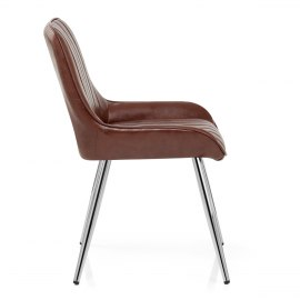 Mustang Chrome Chair Antique Brown