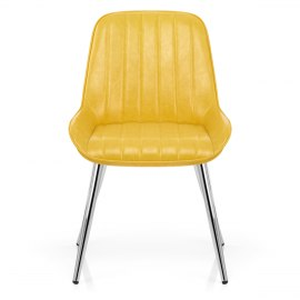 Mustang Chrome Chair Antique Yellow