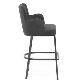 Porter Bar Stool Charcoal Fabric