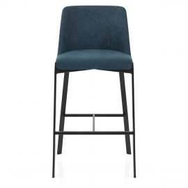 Aspen Bar Stool Blue Fabric