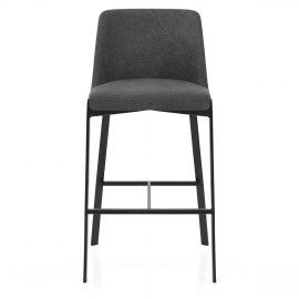 Aspen Bar Stool Charcoal Fabric