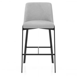 Aspen Bar Stool Grey Fabric