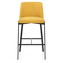 Aspen Bar Stool Yellow Fabric