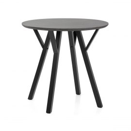 Quest 80cm Dining Table Grey Wood