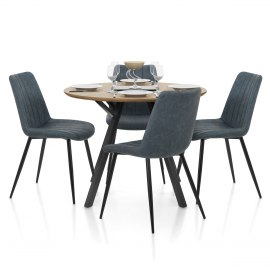 Sussex Dining Set Oak & Blue