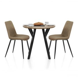 Wessex Dining Set Oak & Brown