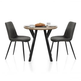 Wessex Dining Set Oak & Charcoal