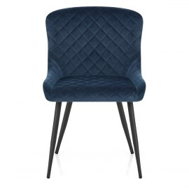 Provence Dining Chair Blue Velvet