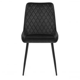 Chevy Dining Chair Black Velvet