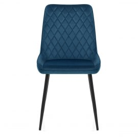 Chevy Dining Chair Blue Velvet