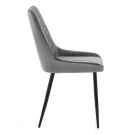 Chevy Dining Chair Grey Velvet