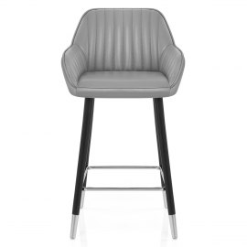 Apres Grande Stool Real Leather Grey