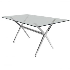 Giovanni Rectangular Glass Table