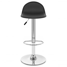 Cap Chrome Stool Black