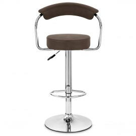 Pluto Bar Stool Brown