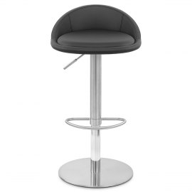 Ava Brushed Bar Stool Black