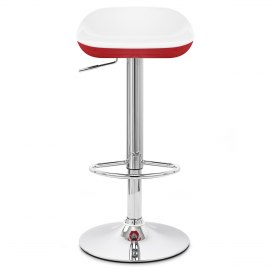 Reflex Bar Stool White & Red