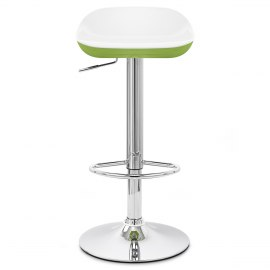 Reflex Bar Stool White & Green